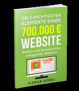 700.000 Euro Webseite Buch Cover, wie kommt man zu einer besseren Webseite, welche Elemente benötigt eine gute Webseite